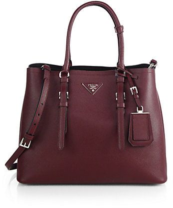 a2d5303b5 Prada Saffiano Cuir Medium Double Bag on shopstyle.com | Torebki ...