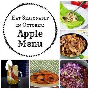 Eat Seasonably in October: Apple Menu