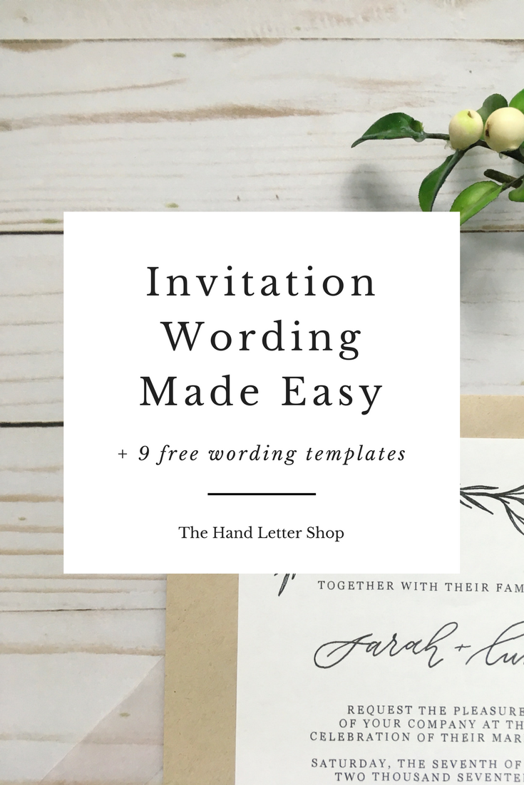 Wedding Invitation Wording Guide | Wedding, Wedding trends and Wedding