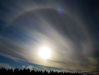 Impressive Halo phenomenon in Nummela, Finland by Auli Kainu