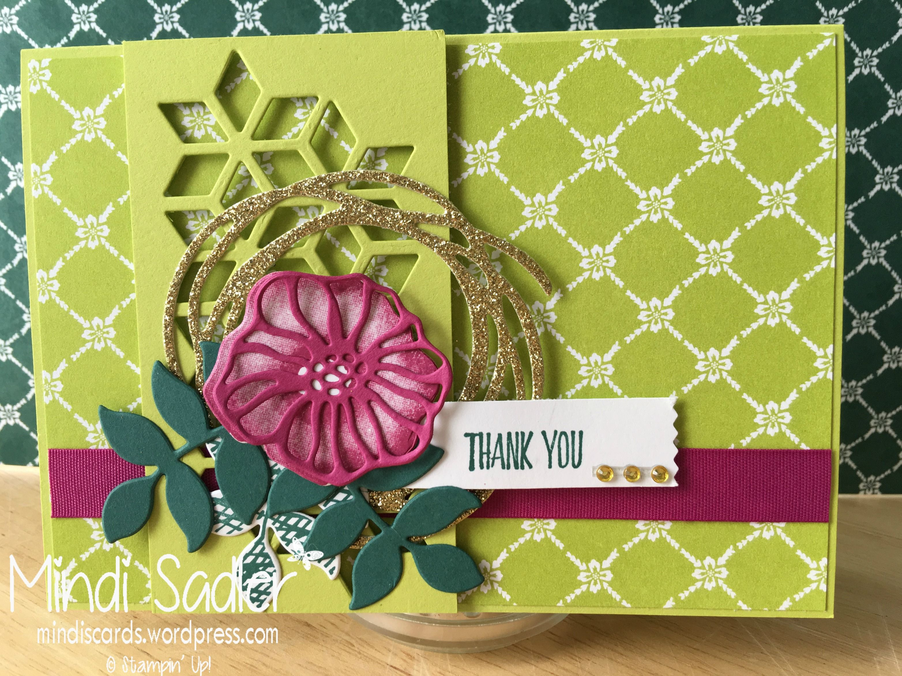 Stampinu up oh so eclectic stampset and eclectic layers thinlits