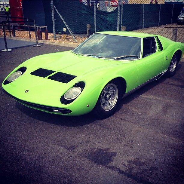 Lime Green Lamborghini Miura Low Luxury Car Lifestyle