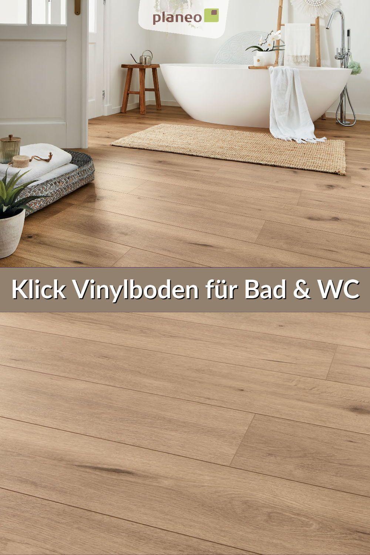 Klick Vinylboden Fur Bad Wc Und Gaste Wc Wasserbestandig Einfach Zu Verlegen In 2020 Vinylboden Vinyl Vinyl Eiche
