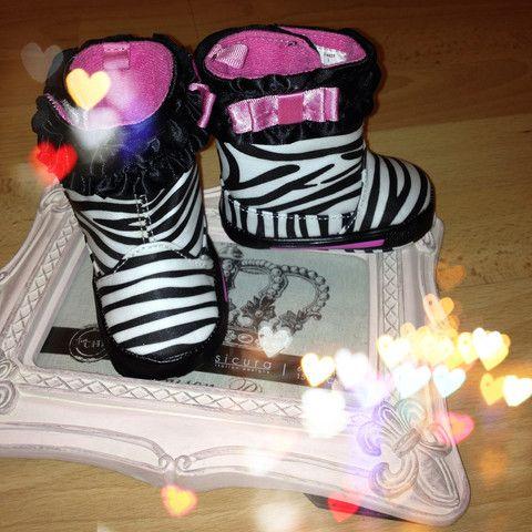 Baby zebra rainboots - Kiddiekart