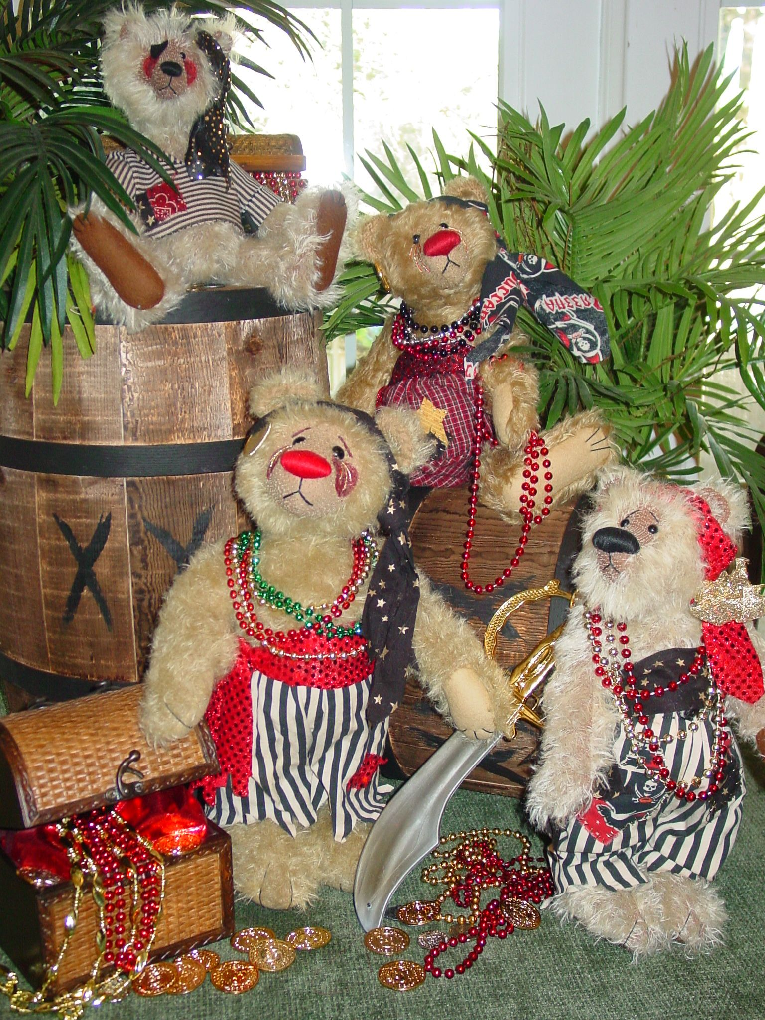 Gaspirilla Pirate Bears Christmas Wreaths Holiday Decor Holiday