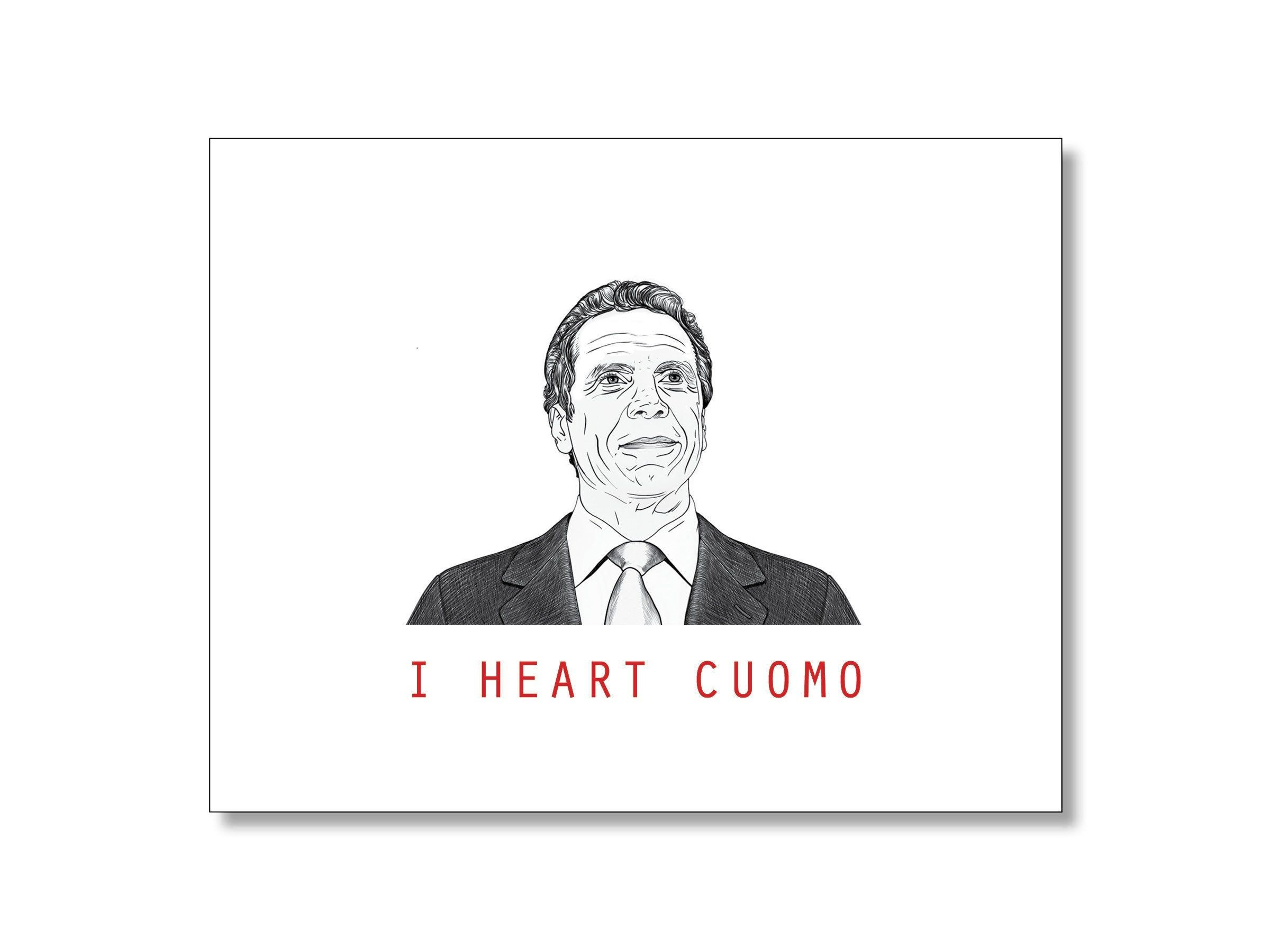 Governor Cuomo Card Social Distancing Card Andrew Cuomo Card Etsy In 2020 Custom Graphic Design Cards Miss You Cards