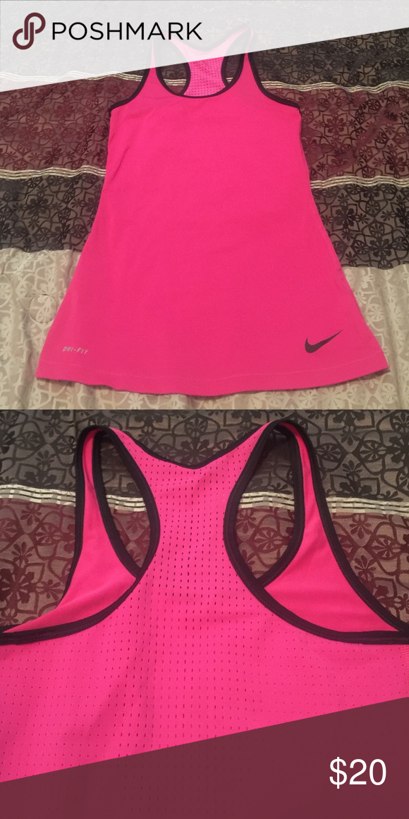 Nike Dri-Fit active top. Excellent condition Nike Dri-Fit active top. Hot pink and black. Excellent condition. Nike Tops Tank Tops