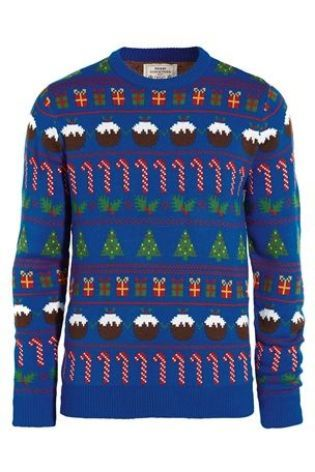 Christmas Jumper Day 2019 Uk.Christmas Jumper Blue Wrapping Paper Crew Christmas