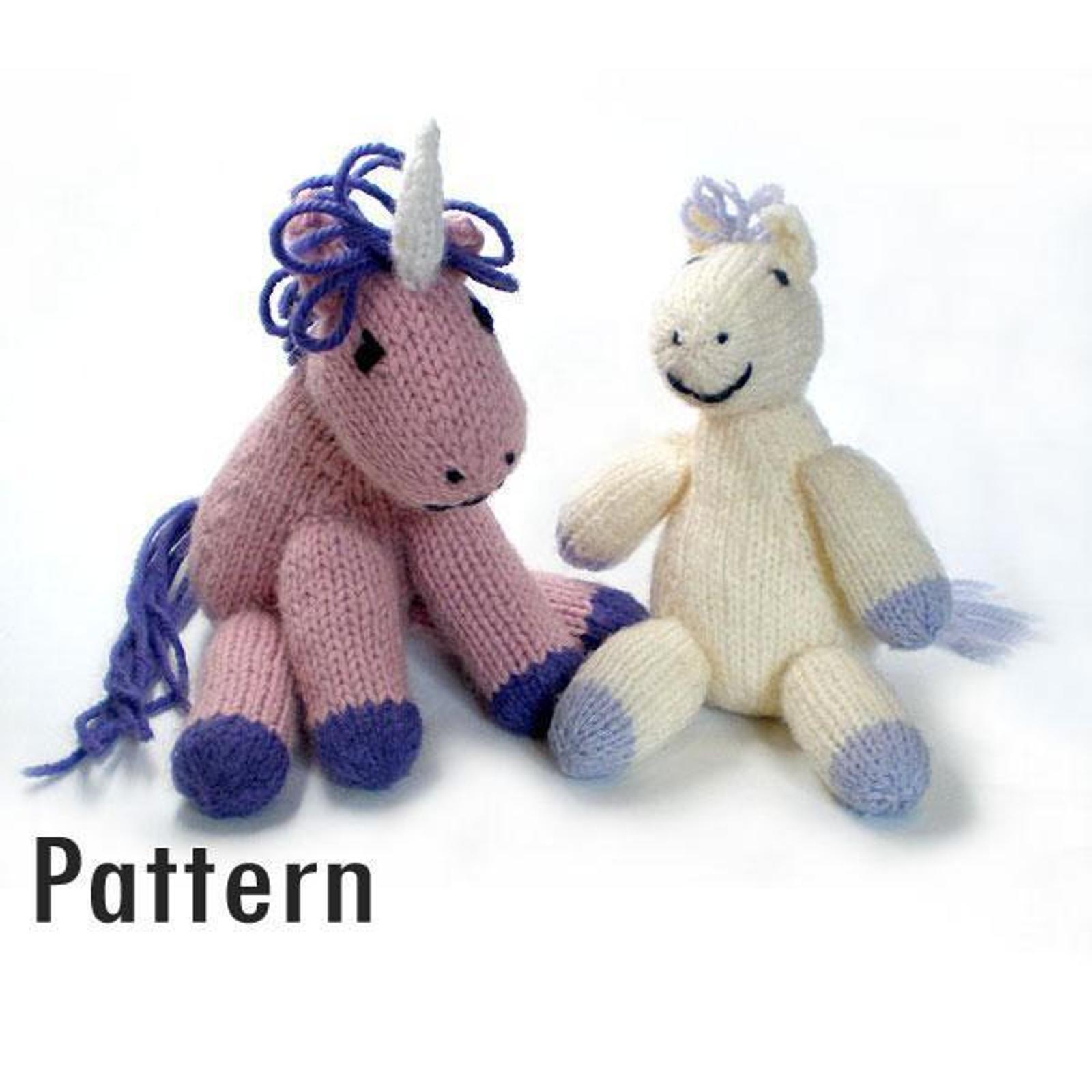 Pony and Unicorn Knitting Pattern | Fun to make toys | Pinterest ...