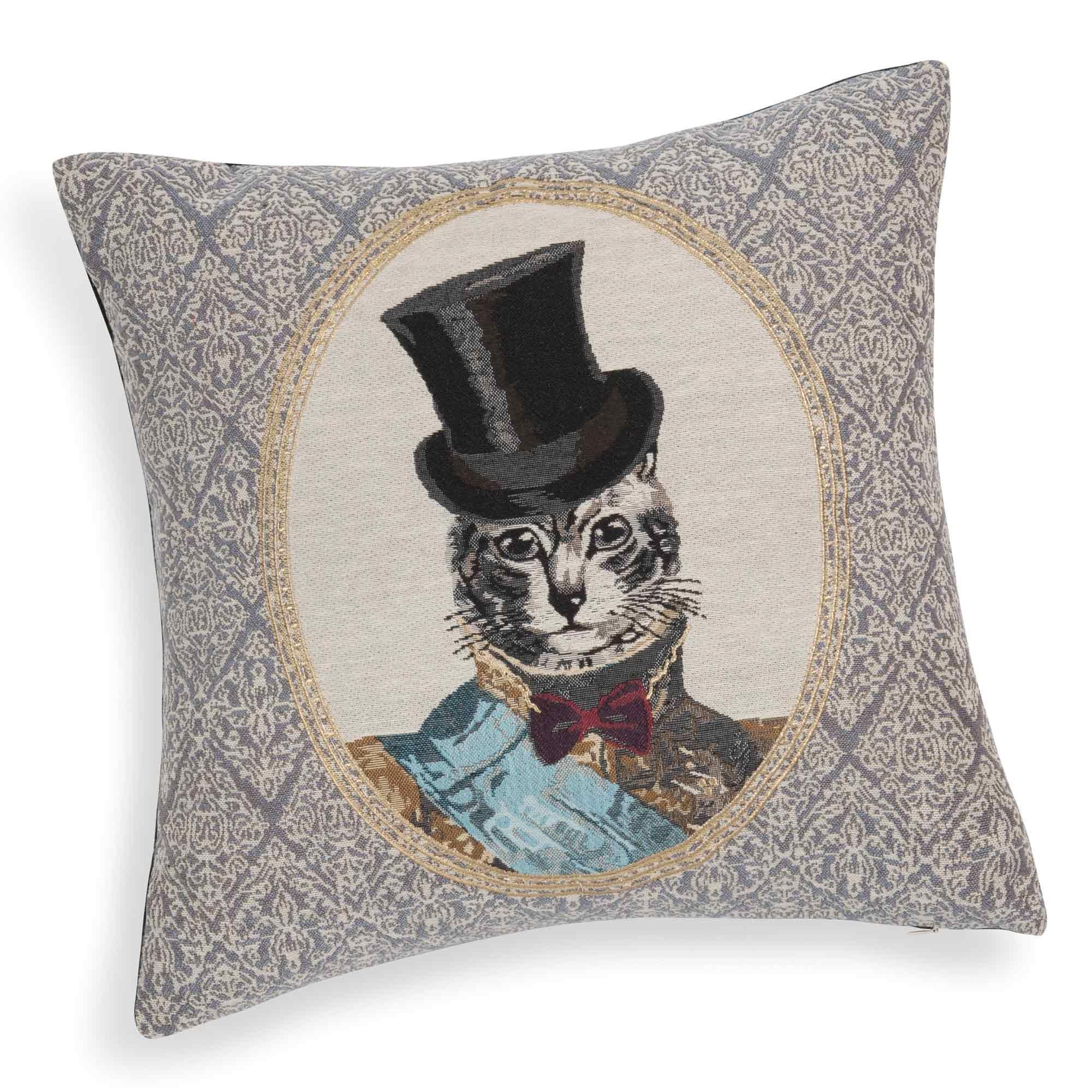 coussin chat en tissu 45 x 45 cm edmond maisons du monde