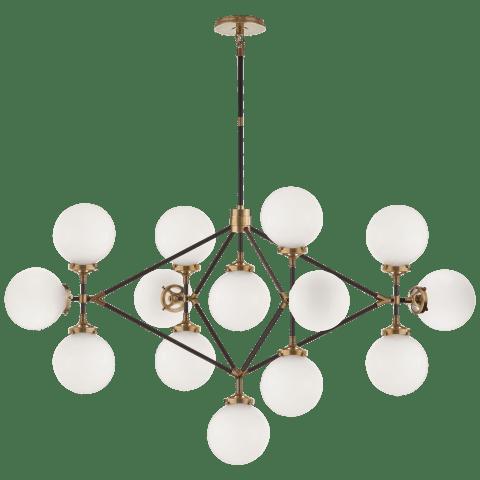 Bistro Four Arm Chandelier Linear Chandelier Ceiling Light Design Chandelier