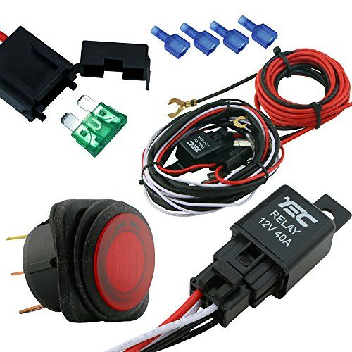 Lamphus Cruizer Off Road Atv Jeep Led Light Bar Wiring Harness 40 Amp Relay On Off Switch Ols Jeep Led Light Bar Led Light Bars Off Road Led Lights