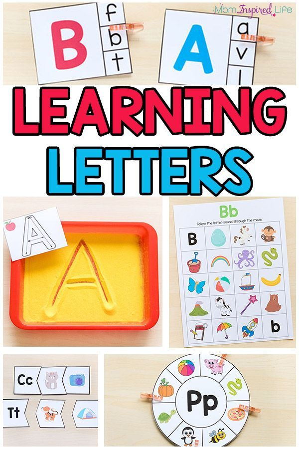 Learning Letters With Fun Activities Learning Letters Math Activities Preschool Alphabet Activities Fun alphabet games for kindergarten