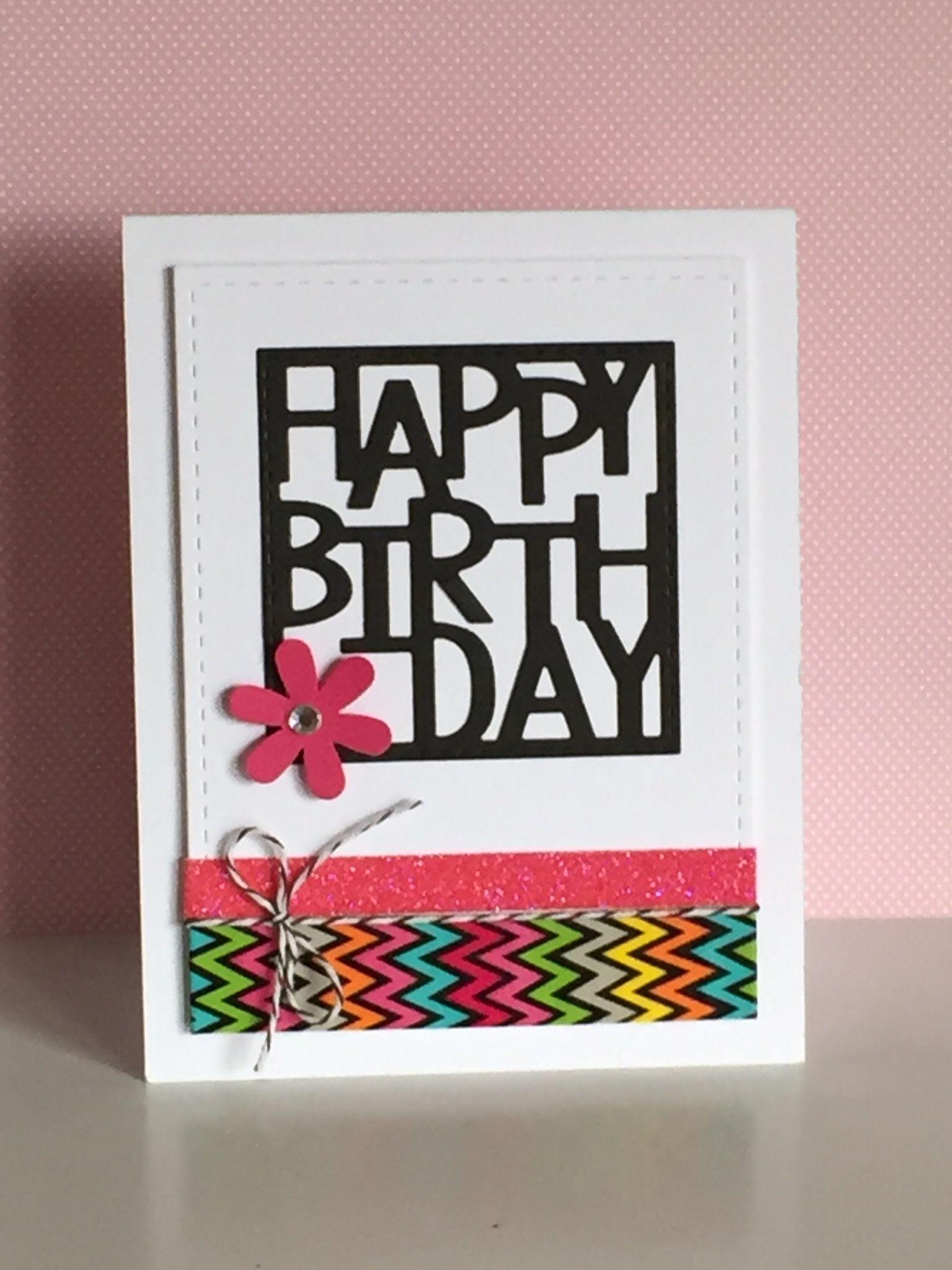 Happy Birthday Is Die From Lil Inker Designs Misc Washi Tape Birthday Cards Cool Birthday Cards Unique Birthday Cards