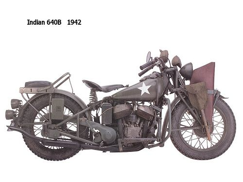 Top 10 Bikes Imho 1942 Indian 640 B Indian Motorcycle Indian