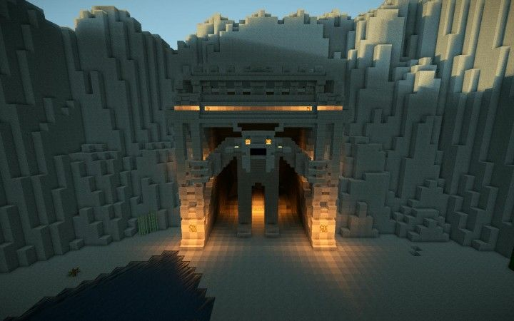 Minecraft Mountain Cave Gate | Minecraft Life | Minecraft cave house