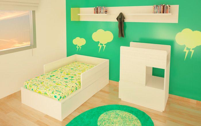 Habitación 2 :: :: Línea Bloque :: Mini Cama + Cambiador Muebles ...