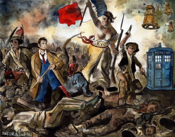 Liberty Leading the Doctor Print by JRIllustrations on Etsy, $25.00