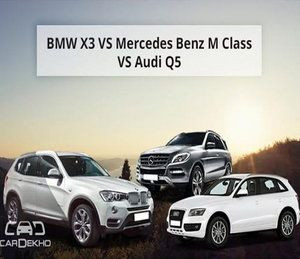 War of luxury cars: BMW X3 vs Audi Q5 vs Mercedes Benz M-Class