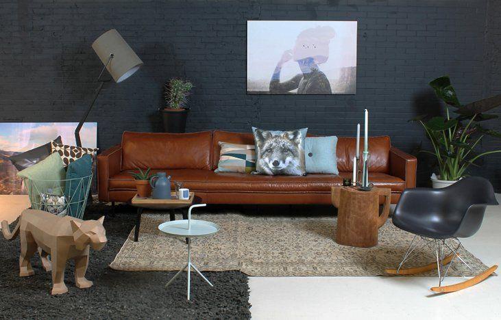 We zijn verliefd de 25 mooiste interieurs met een camelkleurige bank woonkamer pinterest - Eigentijdse interieurdecoratie ...