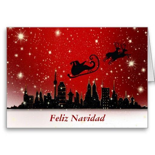 Feliz navidad merry christmas in spanish and santa holiday card feliz navidad merry christmas in spanish and santa greeting cards m4hsunfo