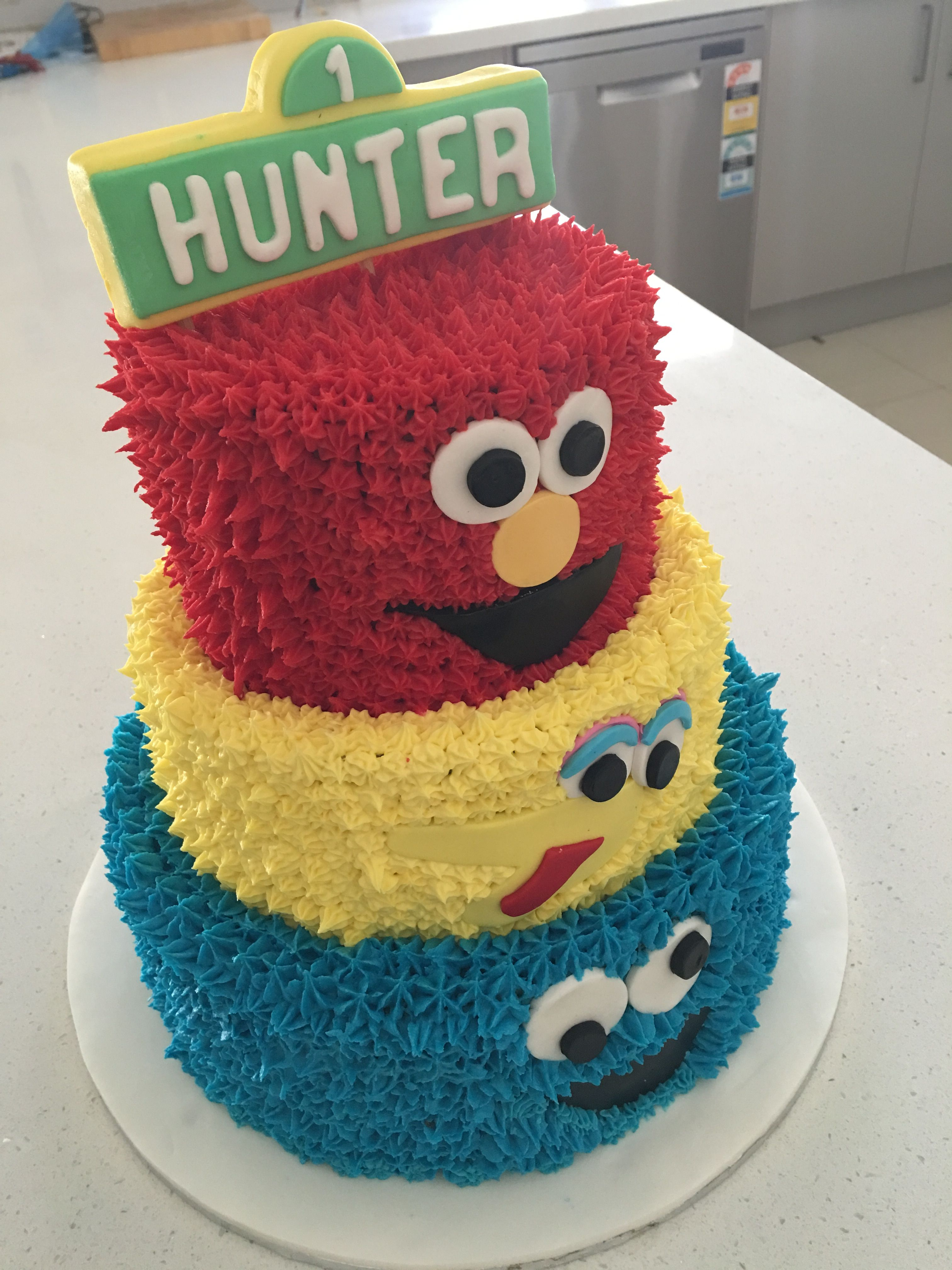 Sesame Street Cake Cookie Monster Big Bird And Elmo
