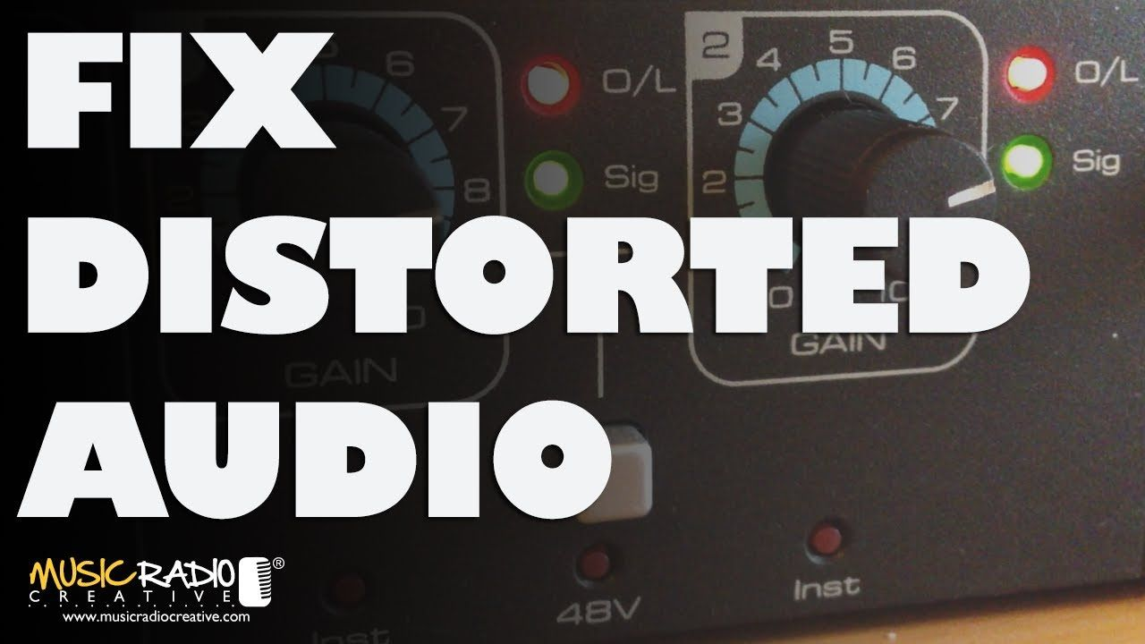 How to fix distorted audio in adobe audition clipped
