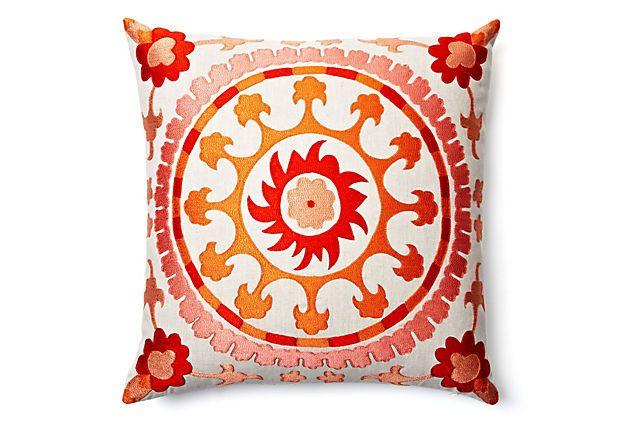 20x20 Suzani Pillow, Red/Multi    $159.00