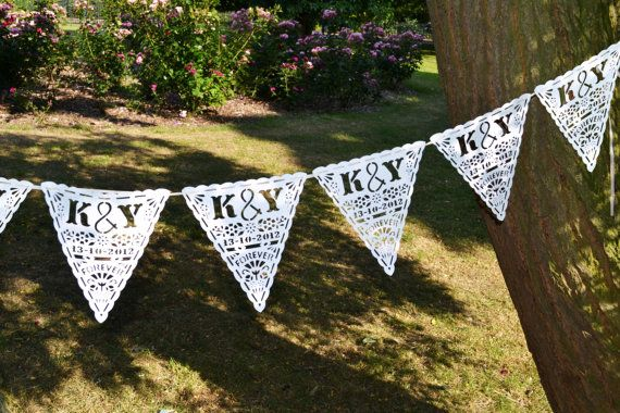 Personalised Laser Cut Wedding Bunting By Comeuppance On Etsy 55 00