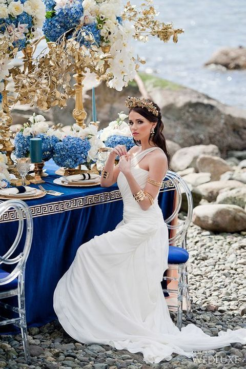 Flowing Grecian Styled Wedding With Images Grecian Wedding