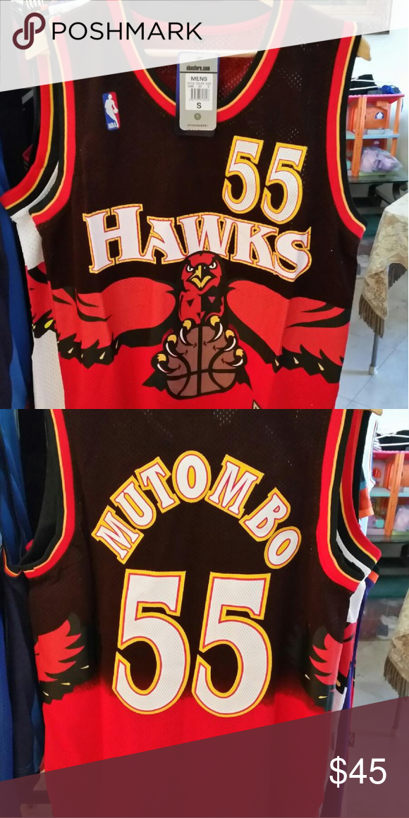 72606c7530c DIKEMBE MUTOMBO ATLANTA HAWKS THROWBACK JERSEY SIZE SMALL BRAND NEW WITH  TAGS STITCHED NAME AND NUMBERS SAME OR NEXT DAY SHIPPING adidas Shirts Tank  Tops