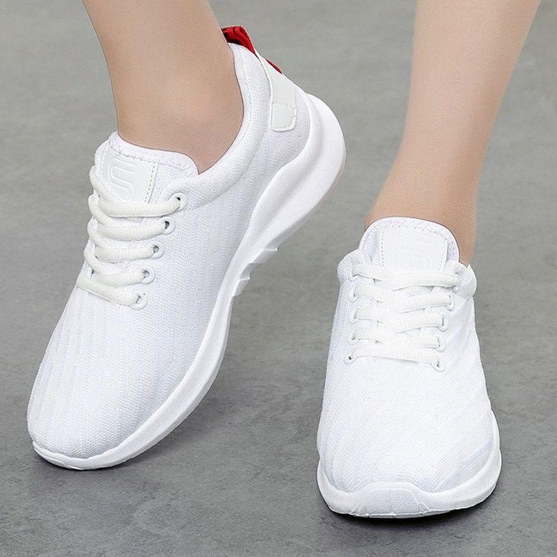 Women Sneakers white Air Mesh Ladies
