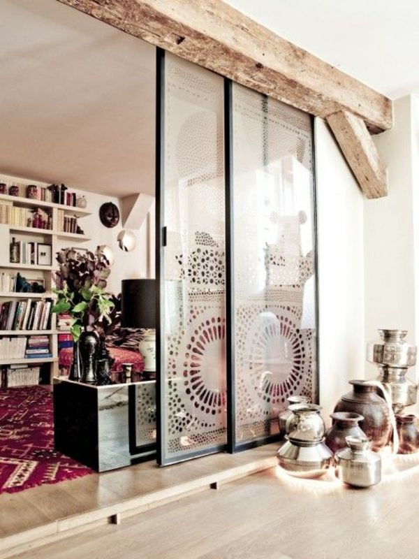 schiebet ren als raumteiler mehr privatheit in der kleinen wohnung einrichtung pinterest. Black Bedroom Furniture Sets. Home Design Ideas