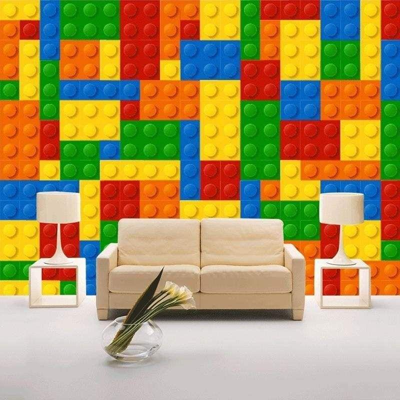 Best 3D Lego Bricks Children S Bedroom Wallpaper Brick Design 640 x 480