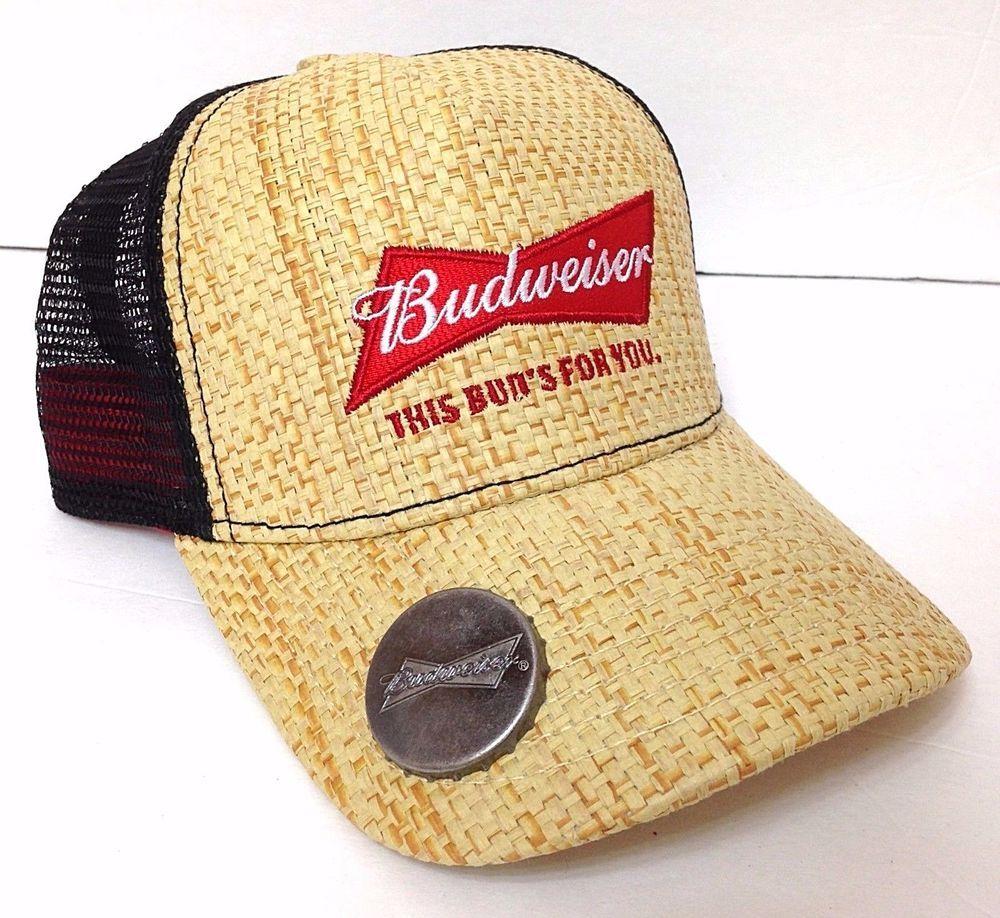 03c681eb3 Details about New Bud Light Straw Budweiser Beer Bottle Opener Mens ...