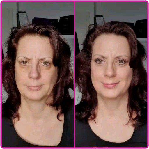 Für euch hier nochmal der direkte Videovergleich. Ungeschminkt und mit der neuen Spray-Foundation in der Farbnuance Organza. Im aktuellen Monatsangebot erhälst Du alles für Deine perfekte Makeup-Grundierung mit einer Ersparnis bis zu 33% 💜.