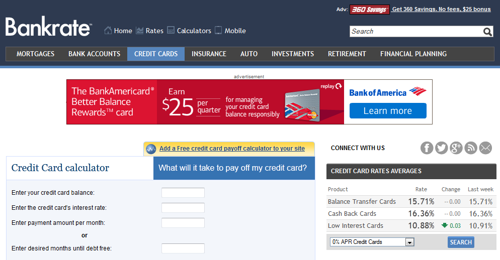 This Bankrate Calculator Shows How Long It Will Take You To Pay Off Your Credit Cards