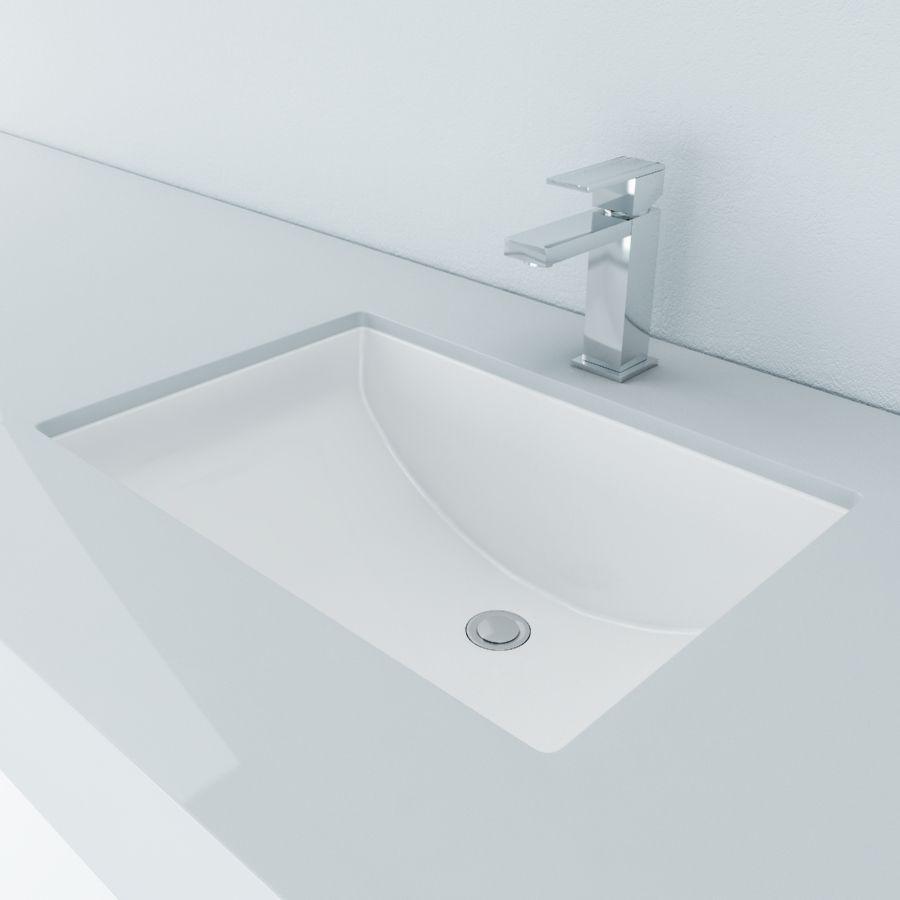 Cantrio Vitreous China undermount rectangle sink