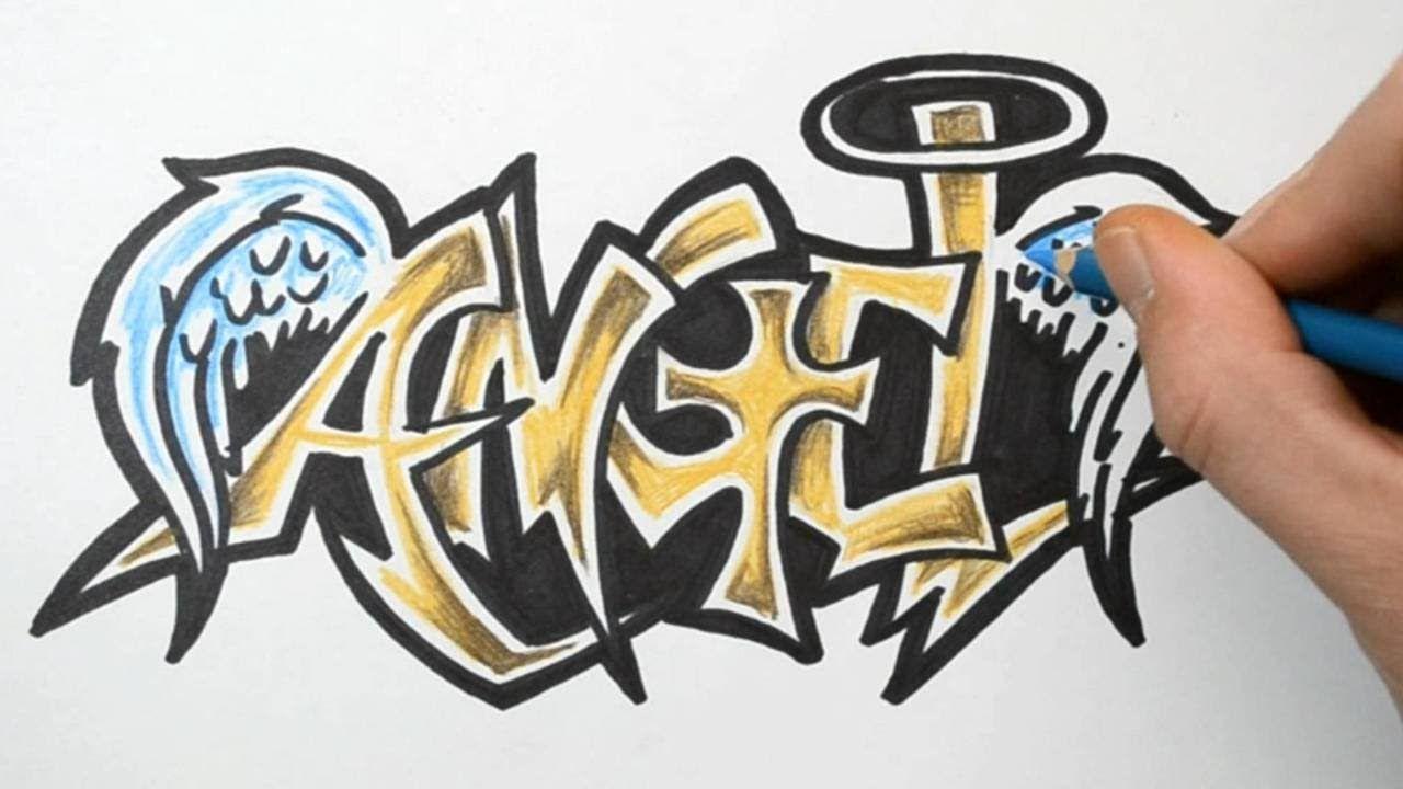 картинки граффити с именем ангелина елена