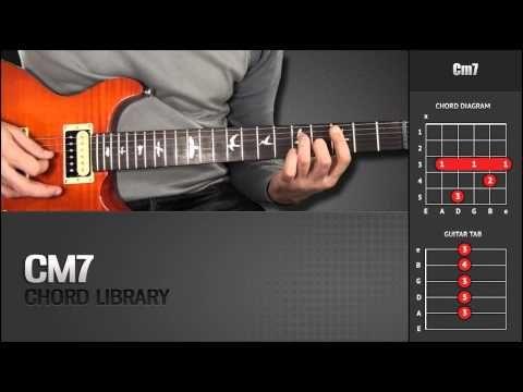 Guitar Chord Library C Chords Cm7 Youtube Guitar Chords C