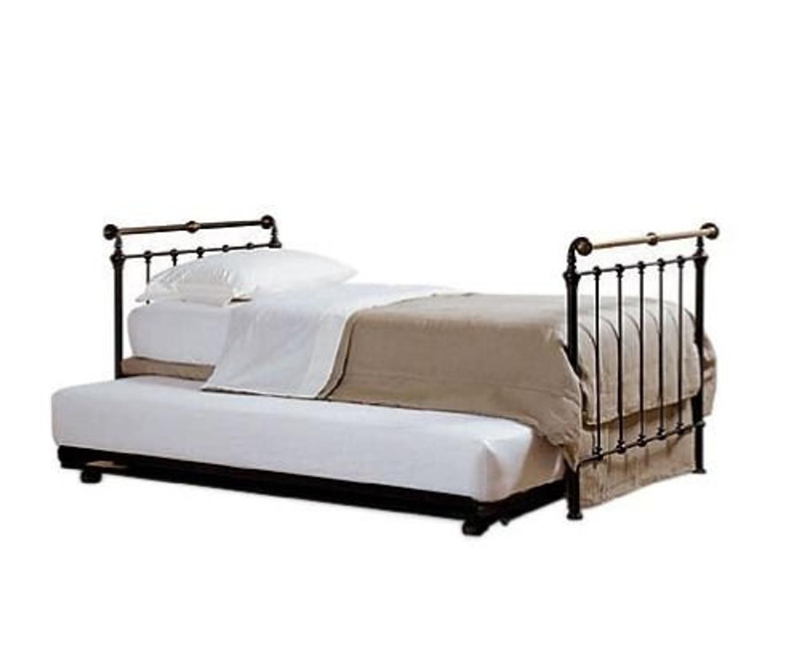 Hand Cast Iron And Brass Trundle Day Bed From Renowned Etsy