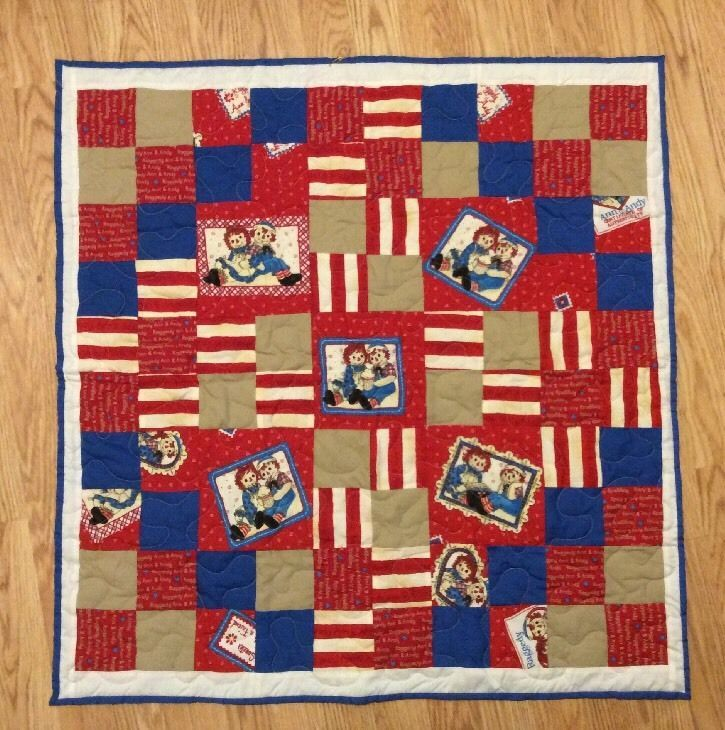 Raggedy Ann and Andy Custom Home/Made Quilt Baby Youth Throw 32x32 ... : raggedy ann quilt pattern - Adamdwight.com