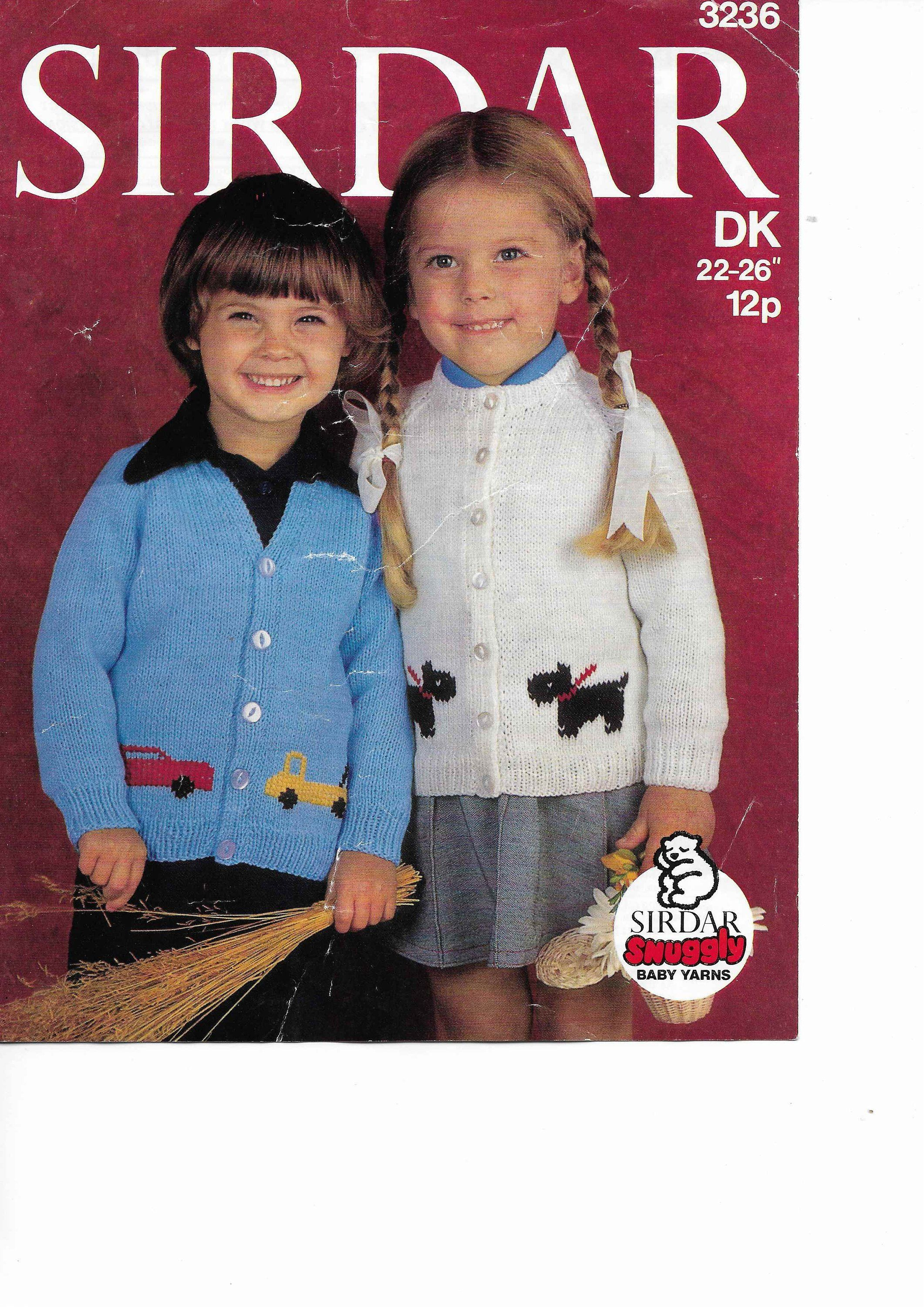 789d503bb991 Cardigans Knitting Pattern PDF Car Dog Motif Cardigan Car Lorry Dog ...