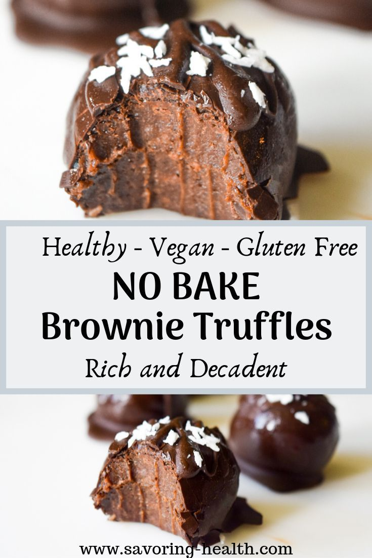 No Bake Brownie Truffles | Savoring Health | Decad