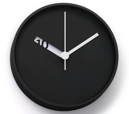 Minimalist Clock Rather Than Show All The Numbers Only Shows What Is Relevant Helping Determine The Actual With Images Wall Clock Design Minimalist Clocks Clock Design