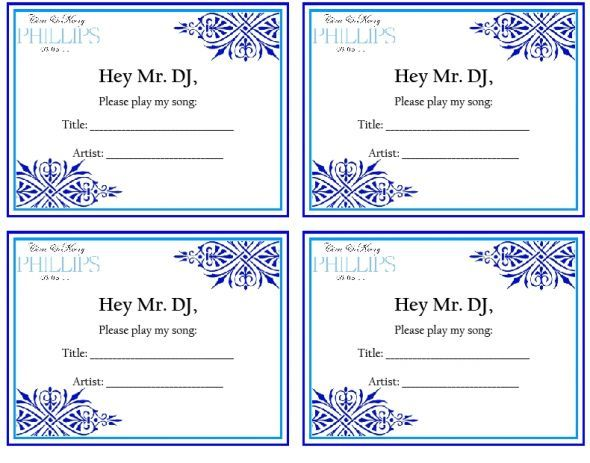 Song Request  wedding song request dj guests reception paper sign - request off forms