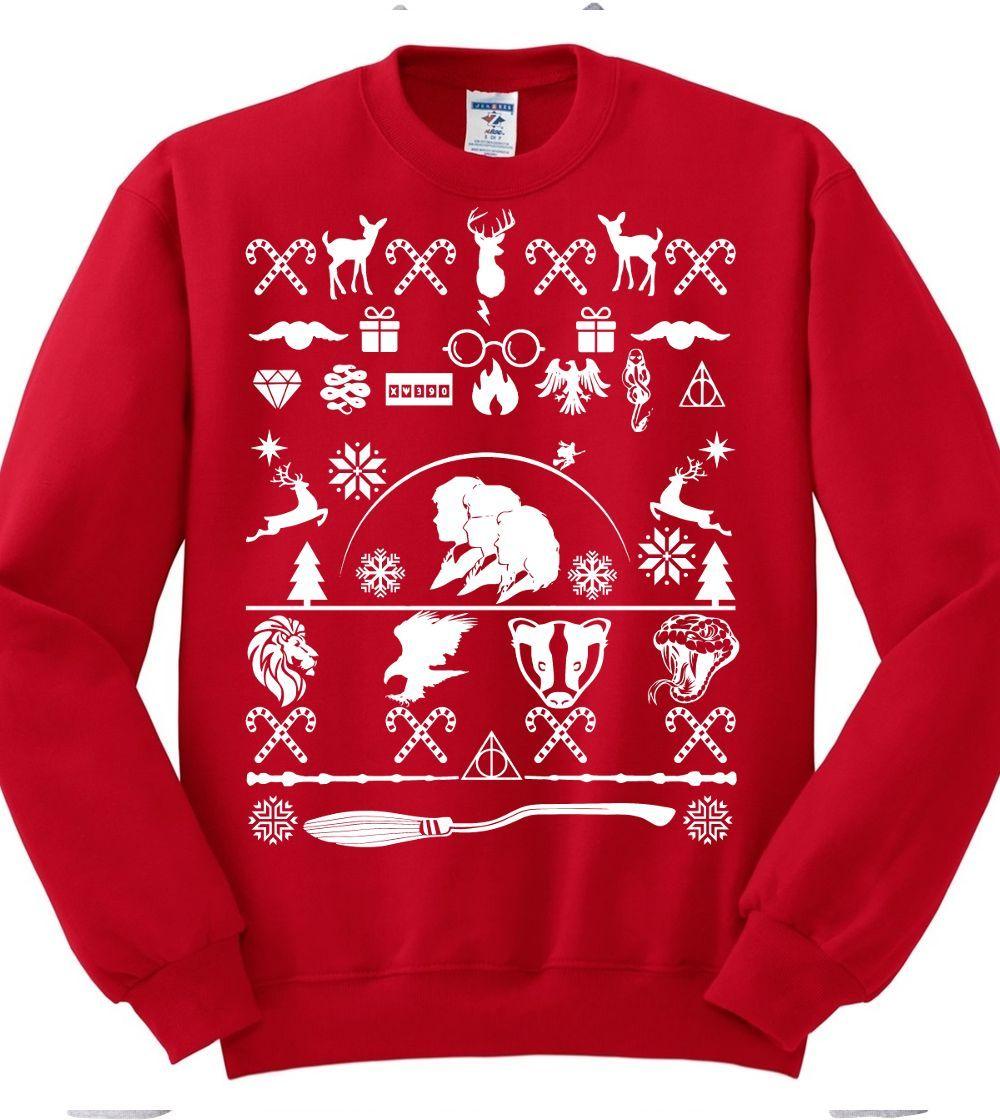 harry potter ugly christmas sweatshirt golden trio nerd girl tees harry potter fandom