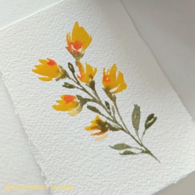 Flower painting - #watercolorart