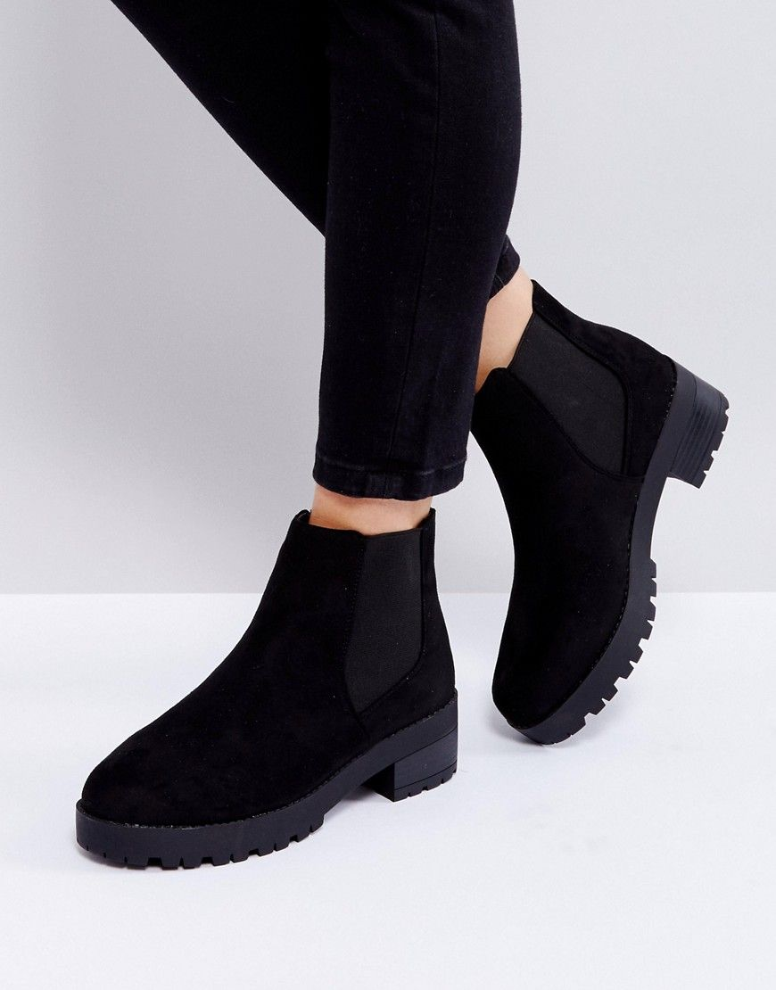 5f85fa011e2 Truffle Collection Chunky Sole Chelsea Boots - Black | Products ...