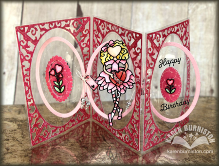 Pop it Ups Oval Accordion, Oval Flourish Frame, Peel Offs - Happy Birthday & Cuties 1